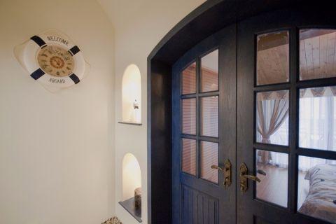 卧室推拉门地中海风格装潢设计图片