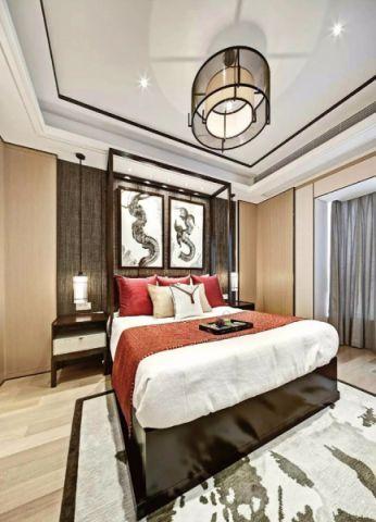 卧室床头柜新中式风格装潢设计图片