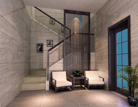 玄关楼梯中式风格效果图