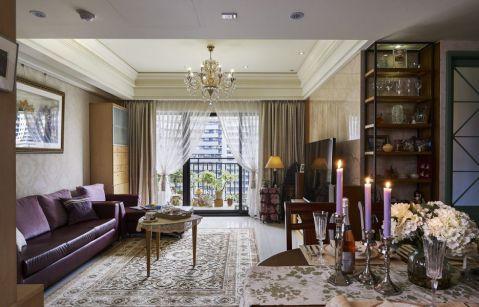 客厅茶几混搭风格装潢效果图