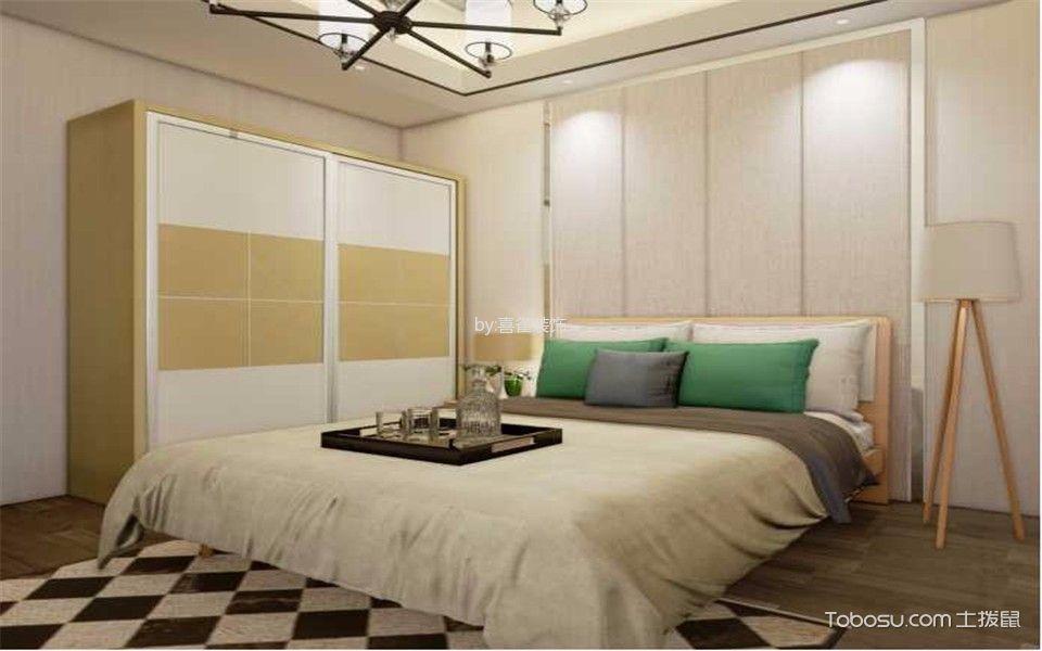 卧室白色衣柜混搭风格装潢设计图片