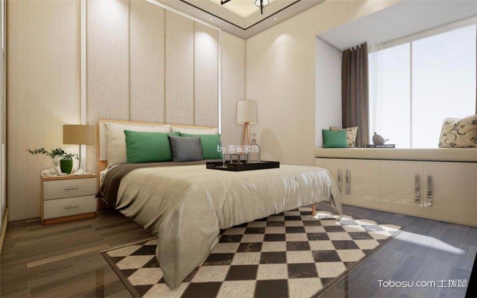 卧室白色飘窗混搭风格装修效果图