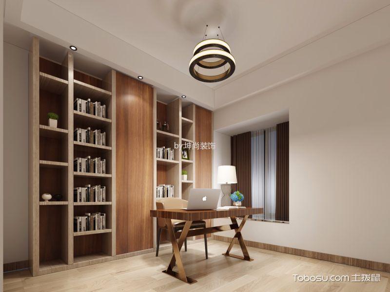 书房白色吊顶简约风格效果图