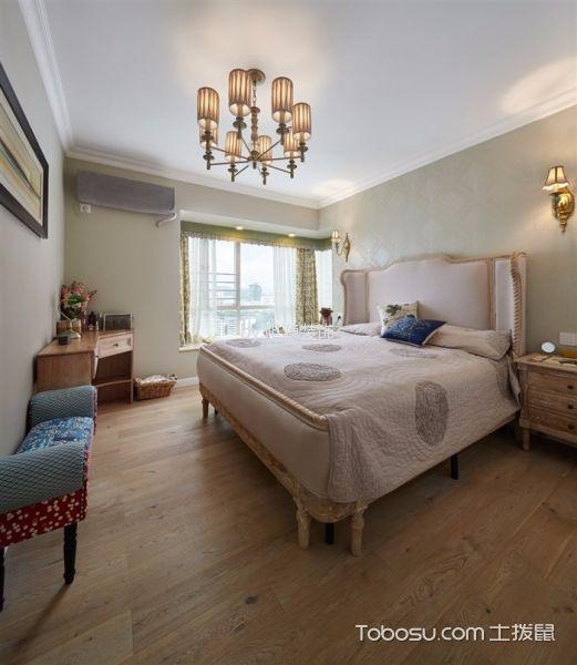 卧室 吊顶_混搭风格100平米三室两厅新房装修效果图