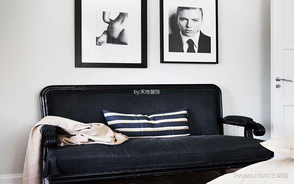 客厅白色照片墙北欧风格效果图