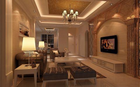 简欧风格125平米两室两厅房子装修效果图