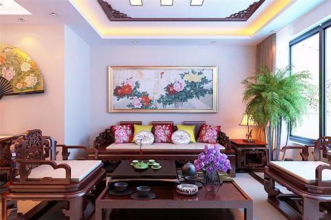 客厅茶几中式风格装修设计图片