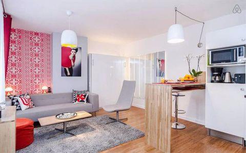 混搭风格60平米一居室新房装修效果图