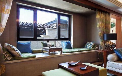 客厅榻榻米东南亚风格效果图