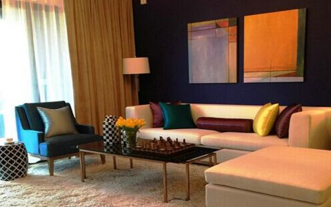 客厅窗帘东南亚风格装修图片