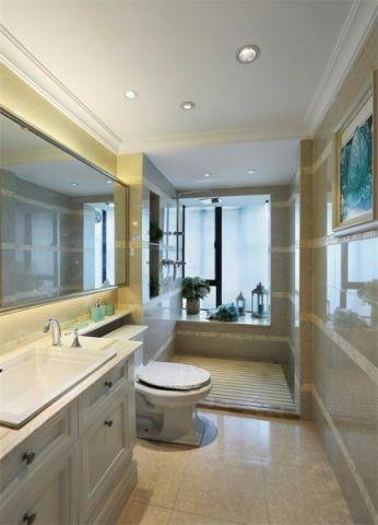 卫生间地砖简欧风格装潢设计图片