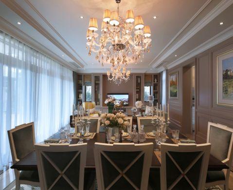 餐厅吊顶简欧风格装修设计图片