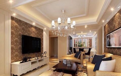 简欧风格89平米两室两厅新房装修效果图