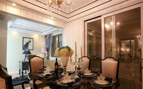 餐厅餐桌混搭风格效果图