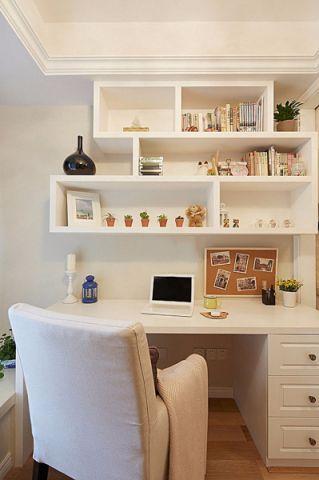 书房书桌美式风格装潢设计图片