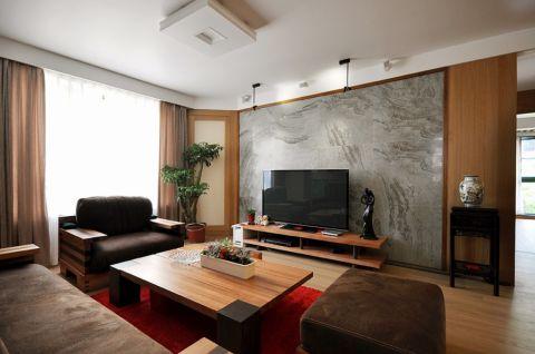 美式风格115平米三室两厅室内装修效果图