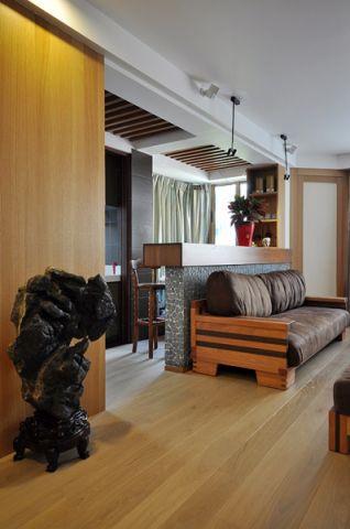 客厅地板砖美式风格装修设计图片