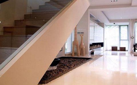 客厅楼梯简欧风格装饰图片