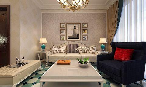 客厅茶几简欧风格装修效果图