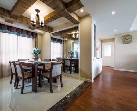 美式风格106平米公寓室内装修效果图