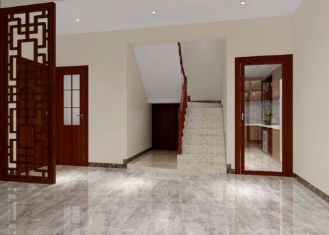 玄关楼梯中式风格装潢设计图片