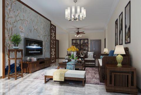 客厅吊顶中式风格装修效果图