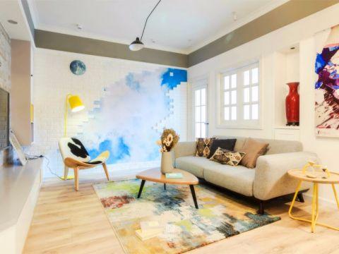北欧风格89平米三室两厅新房装修效果图