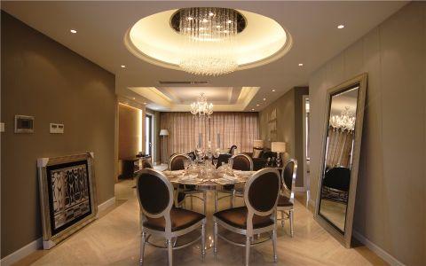 餐厅餐桌简欧风格效果图
