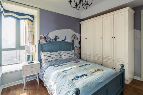 儿童房衣柜美式风格装饰图片