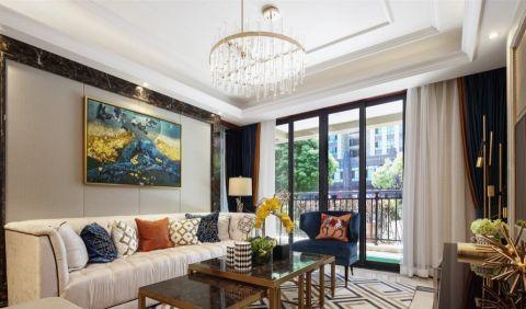 客厅窗帘混搭风格装饰设计图片