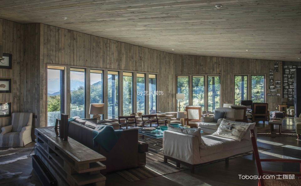 田园乡村风格120平米三室两厅新房装修效果图
