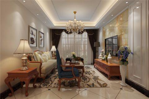 简欧风格130平米三室两厅新房装修效果图