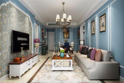 美式风格风格140平米三室两厅新房装修效果图