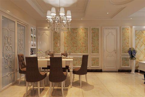 餐厅吊顶简欧风格装饰图片