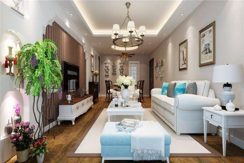 客厅照片墙美式风格装潢效果图