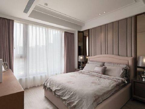 卧室咖啡色窗帘北欧风格装饰设计图片