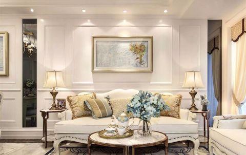 客厅米色茶几现代风格效果图