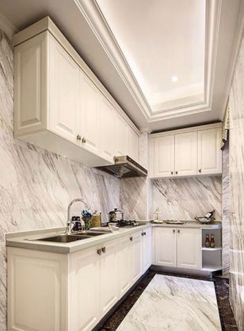 厨房白色橱柜现代风格装饰效果图