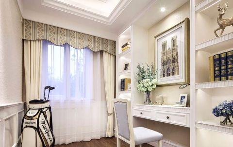 书房米色窗帘现代风格装修图片