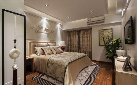 卧室彩色背景墙简欧风格装潢图片