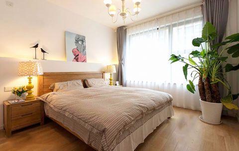 卧室灰色窗帘混搭风格装修效果图