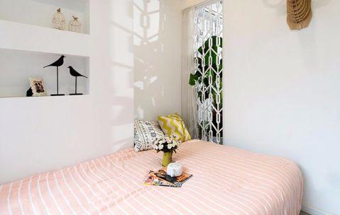 卧室白色背景墙混搭风格装饰效果图