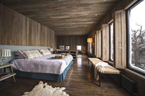 卧室地板砖田园风格装潢图片