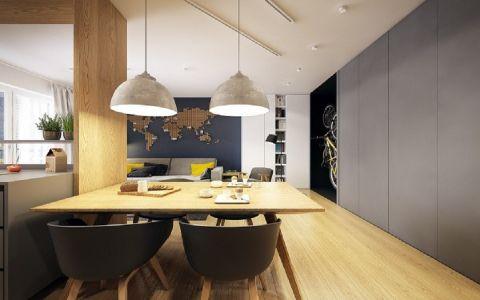 餐厅餐桌现代简约风格装潢效果图