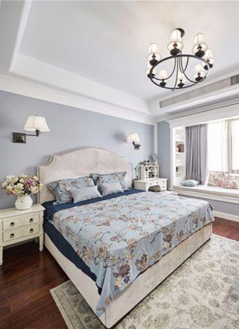 卧室吊顶美式风格装潢效果图