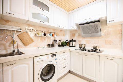 厨房橱柜田园风格装潢效果图