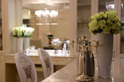 餐厅餐桌简欧风格装修图片