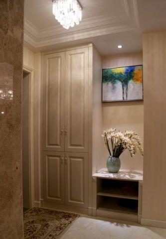 玄关白色吊顶简欧风格装饰图片