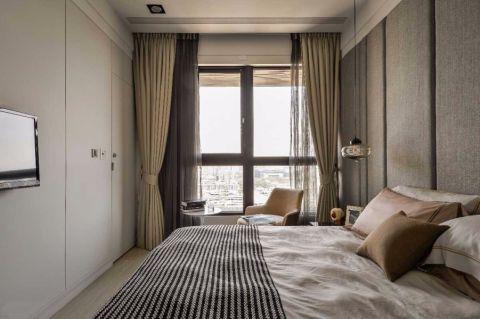 卧室黄色窗帘现代风格装潢设计图片