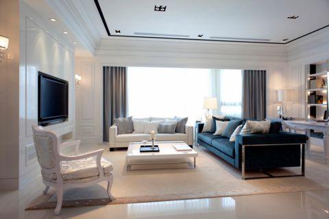 客厅白色茶几欧式风格效果图